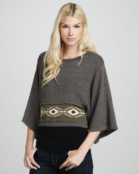 Cropped Tribal Sweater