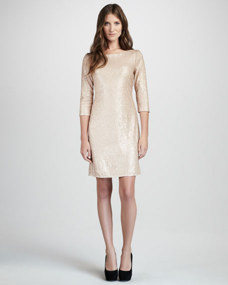 Sequined Mesh Dress