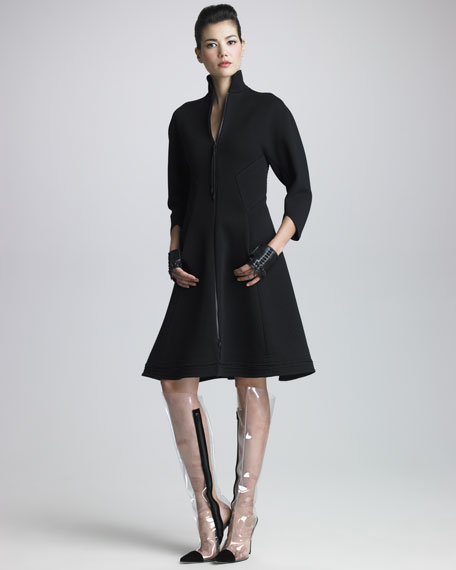 Double-Face Zip Dress