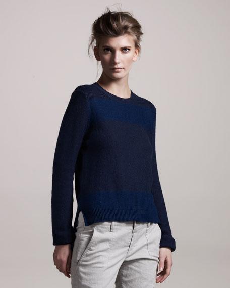 Block-Stripe Sweater