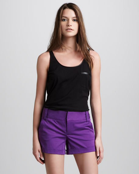 Cady Cuffed Shorts, Purple
