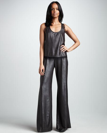 Metallic Stretch Pants