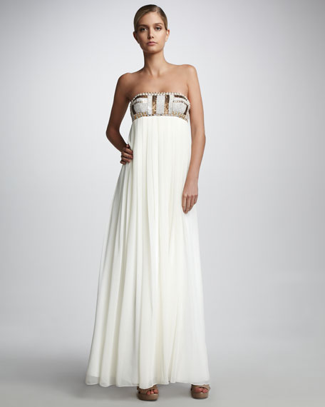 Bead-Top Gown