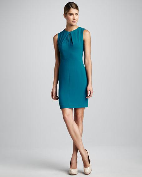 Crepe Keyhole Dress