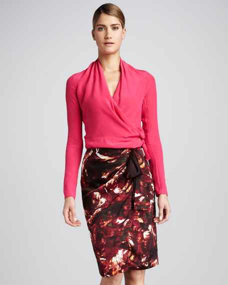 Winter Rose Sarong Skirt