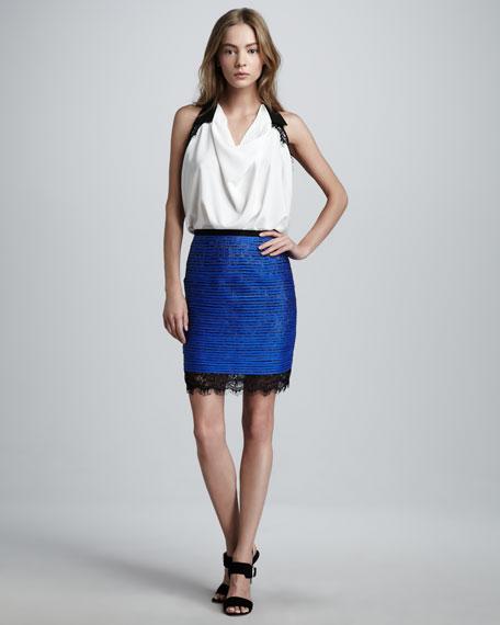 Boca Lace-Trim Miniskirt