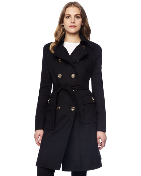 Beverly Double-Breasted Belted Coat