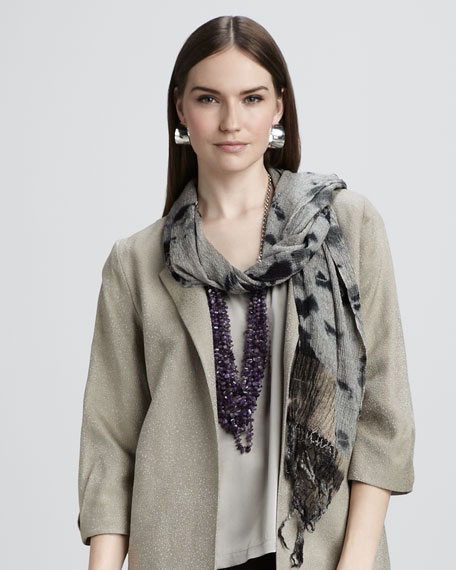 Crinkled Silk Scarf