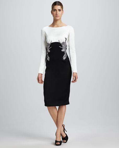 Embellished Combo Dress