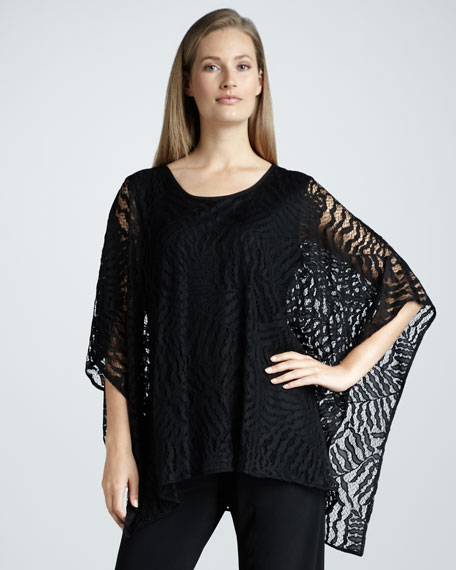 Fern-Lace Poncho