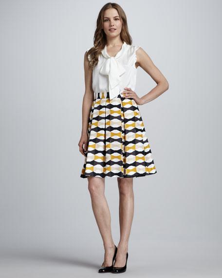 jolie printed full skirt