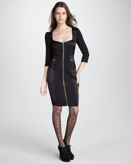 Dita Lace-Panel Dress