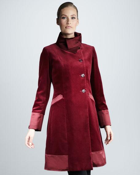 Water-Resistant Velvet Coat