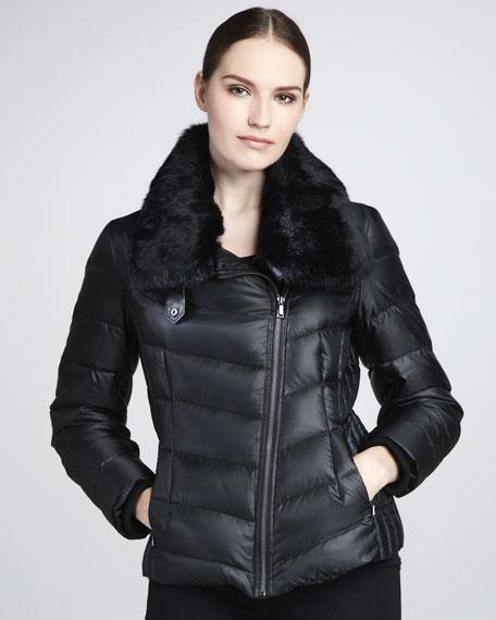 Helsinki Fur-Trimmed Puffer Coat