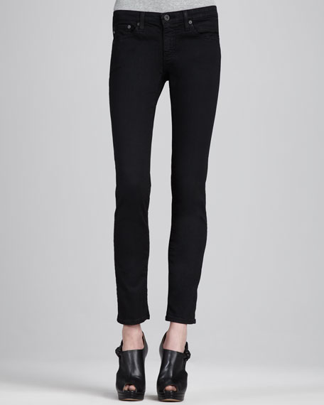 Stilt Coated Black Twill Skinny Jeans