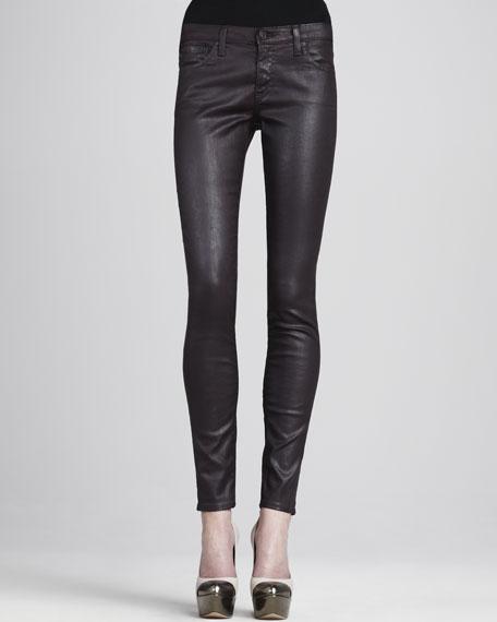 Faux-Leather Leggings, Blackberry