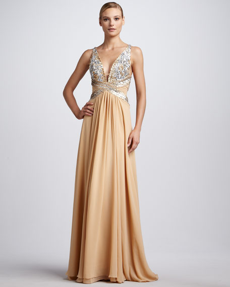 Bead-Top Gown