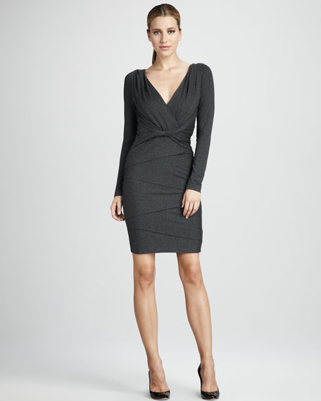 Twist-Waist Jersey Dress