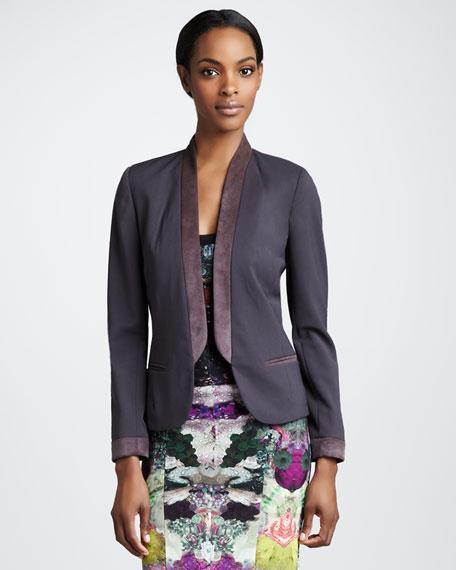 Shawl-Collar Gabardine Jacket