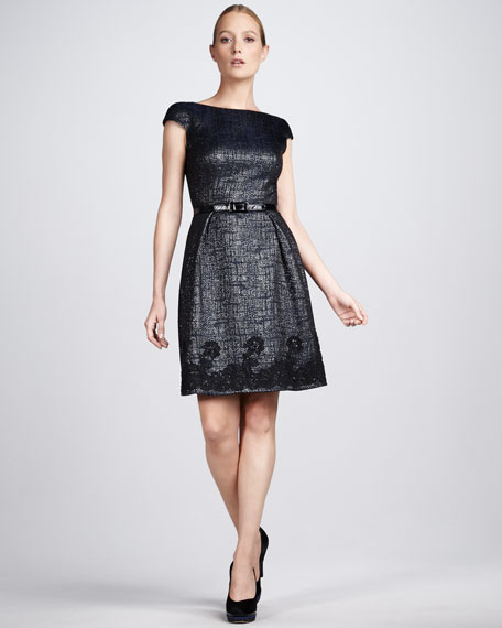 Lace-Hem Cocktail Dress