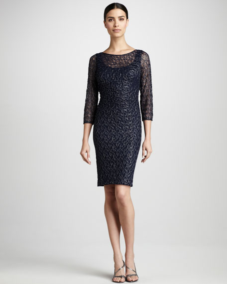 Metallic Lace Dress, Women's