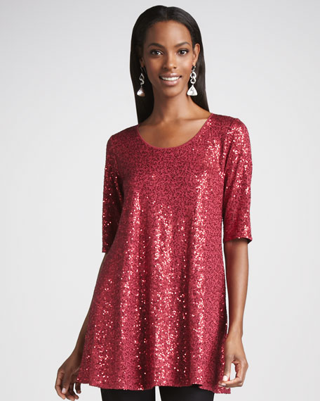 Long Sequined Tunic