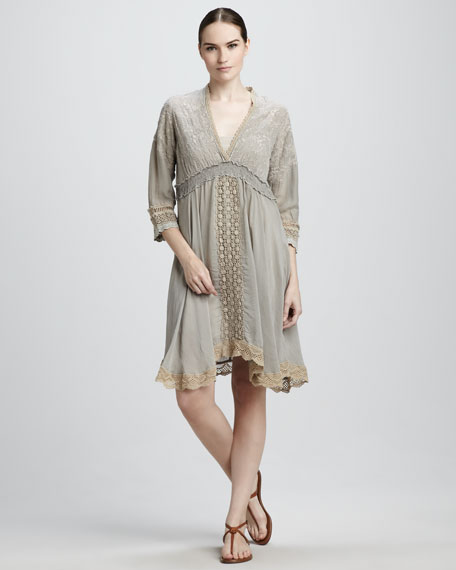 Natasha Lace-Trim Dress