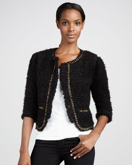 Boucle Chain-Trim Jacket, Women's