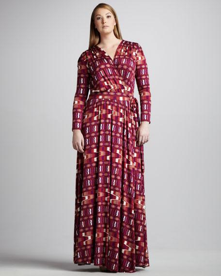 Long Printed Dress, Women's