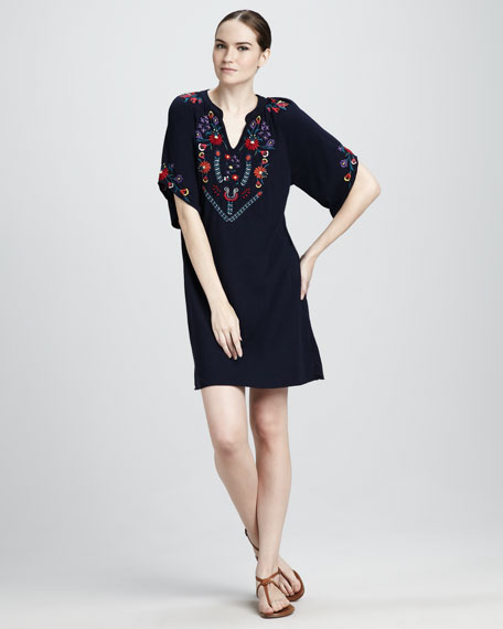Kelsey Embroidered Dress, Women's
