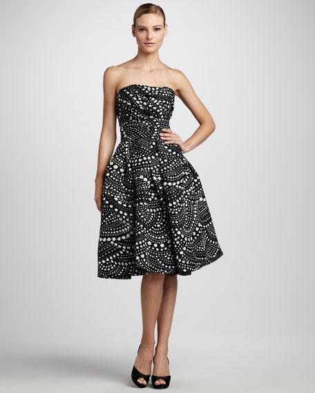 Scallop-Print Party Dress