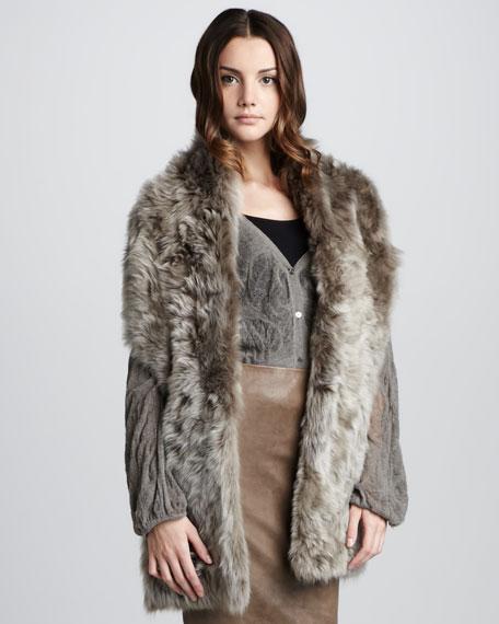 Fur Tie Shrug