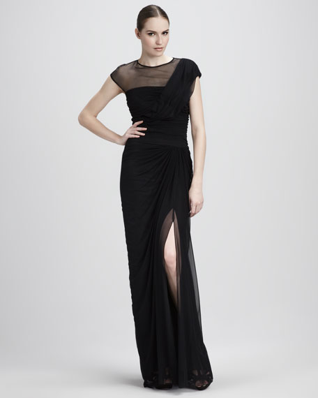 Mesh Illusion Gown