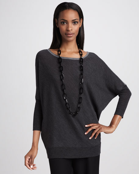Wool Boat-Neck Top