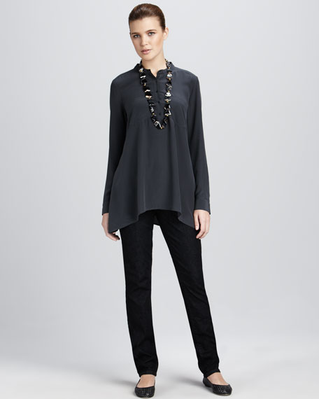 Silk Boxy Shirt