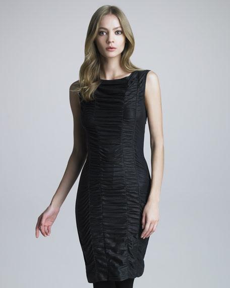 Faux-Leather Dress