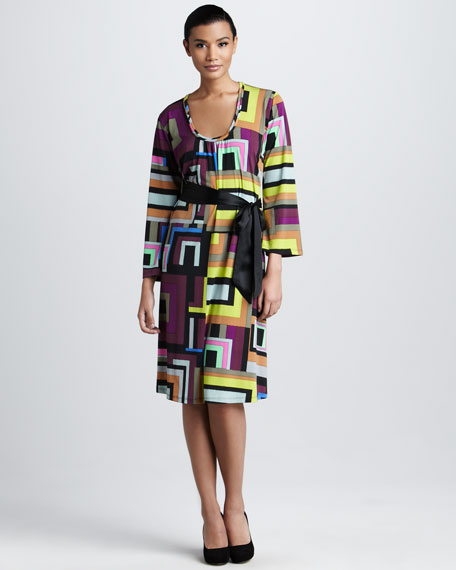 Geometric-Print Dress, Women's