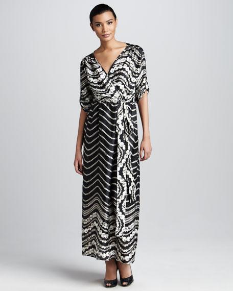 Pearl-Print Maxi Dress, Women's