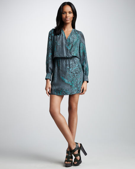 Faux-Wrap Dress