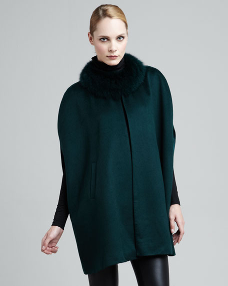 Fur-Collar Cape