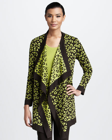 Draped Animal-Print Jacket