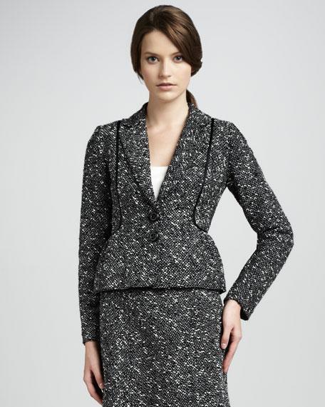 Baroness Tweed Peplum Jacket