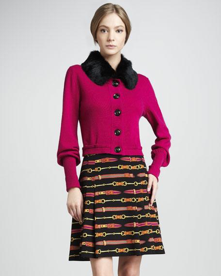 Belt-Print Skirt