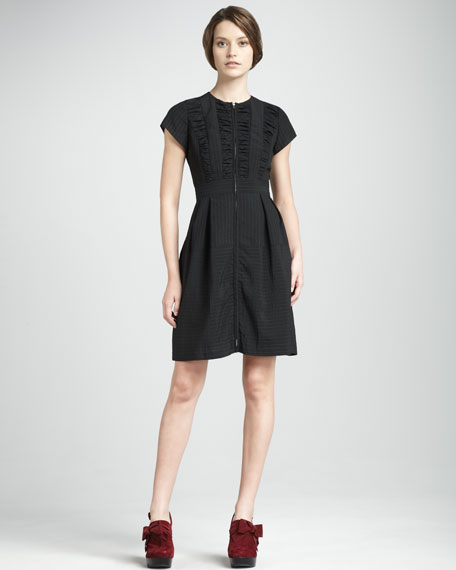 Pedigree Smocked Pinstripe Dress