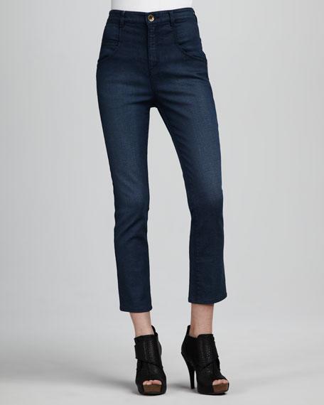 Pegleg Cropped Skinny Jeans