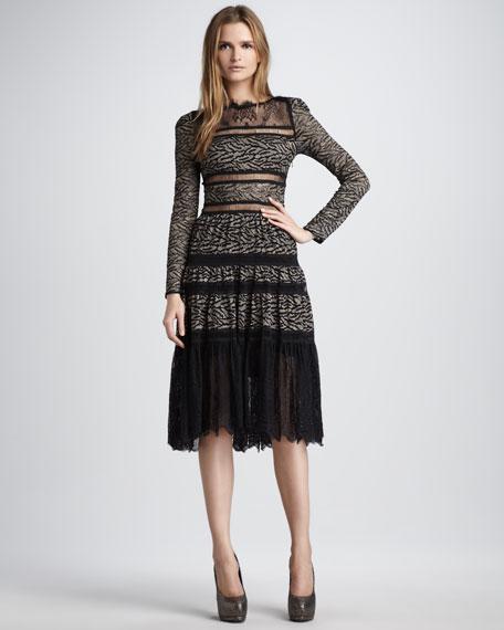 Dinorah Lace-Detail Dress