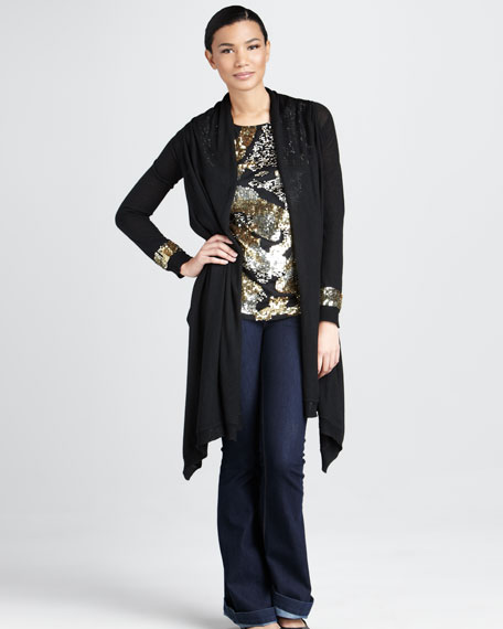 Sequined Cardigan, Women's