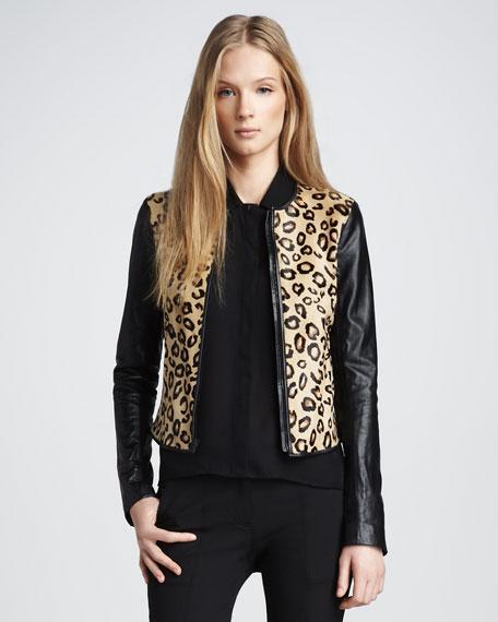 Printed Calf Hair Jacket