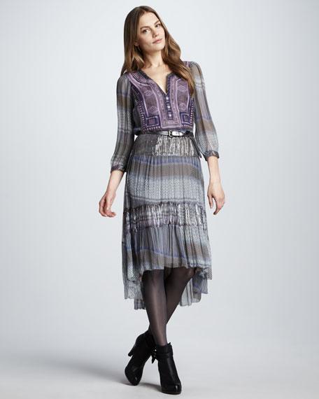 Dale Printed Silk Dress