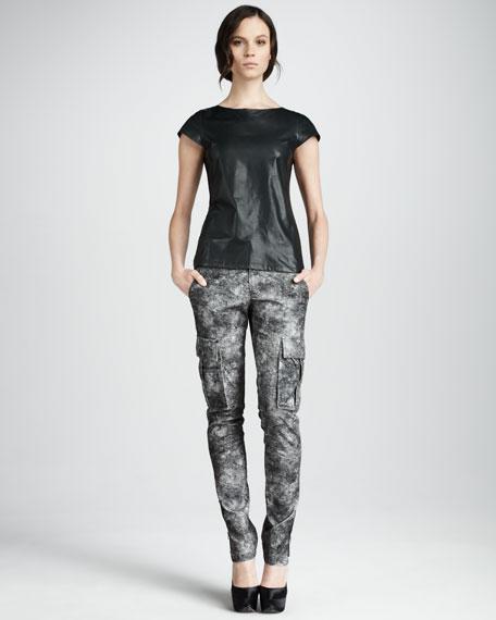 Printed Skinny Cargo Pants